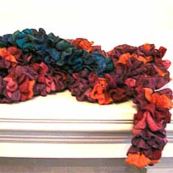 Handknitted Ruffle Scarves